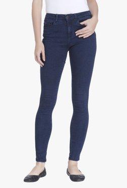 Only Dark Blue Slim Fit Low Rise Raw Denim Jeans