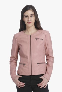 Only Ash Rose Full Sleeves Faux Leather Jacket
