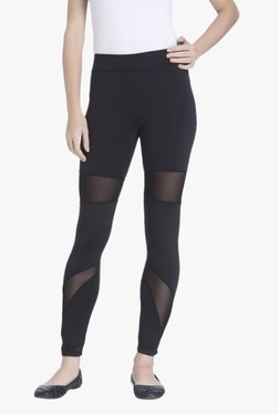 Only Black Slim Fit Polyester Mesh Leggings