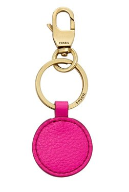 671a42379 Fossil Hot Pink Solid Leather Keyring