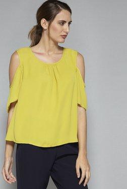 Wardrobe By Westside Lime Green Eliza Blouse