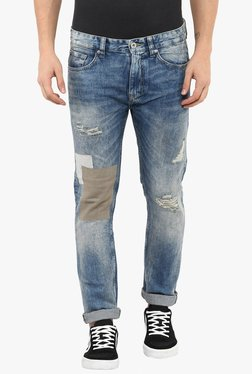 Celio* Blue Skinny Fit Distressed Jeans