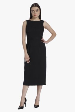 Vero Moda Black Regular Fit Midi Dress
