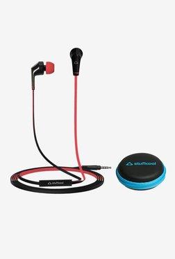 Stuffcool VIVHF02 With Mic In-Ear Headphones (Black/Red)