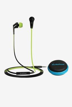 Stuffcool VIVHF02 With Mic In-Ear Headphones (Black/Green)