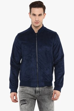celio* Navy Full Sleeves Regular Fit Jacket
