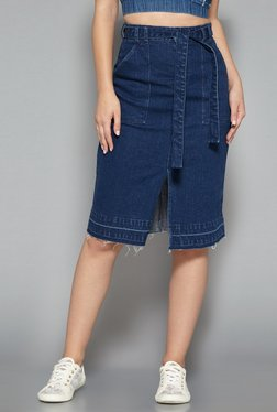 Nuon By Westside Blue Pure Cotton Skirt