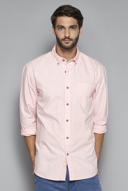 Westsport Casual By Westside Pink Tailored Fit Shirt