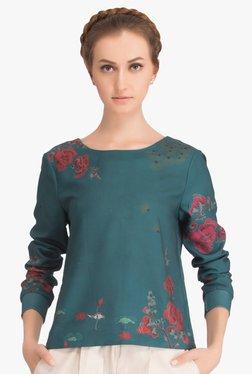 Twelve AM:PM Green Floral Print Sweatshirt