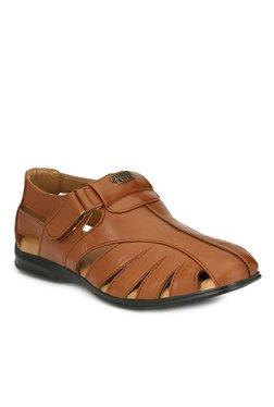 Alberto Torresi Luigi Dark Tan Fisherman Sandals