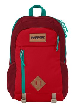 JanSport Fox Hole Red Polyester Laptop Backpack