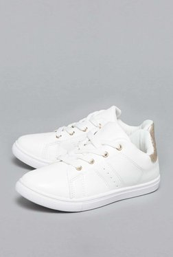 Yellow By Westside White Lace-Up Sneakers