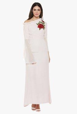 Athena Off White Embroidered Maxi Dress