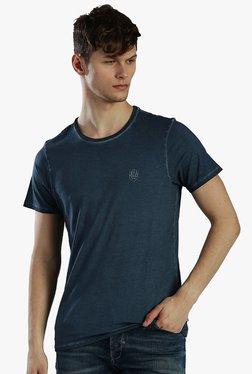 883 Police Dark Blue Round Neck Slim Fit T-Shirt