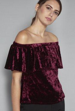 Wardrobe By Westside Berry Maine Crop Blouse