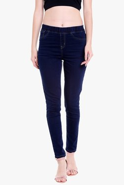 Globus Navy Cotton High Rise Jeggings