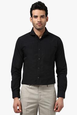 Raymond Black Full Sleeves Slim Fit Shirt