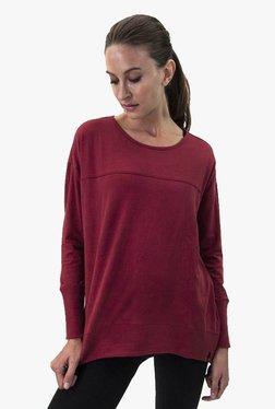 Satva Burgundy Textured Organic Cotton Top