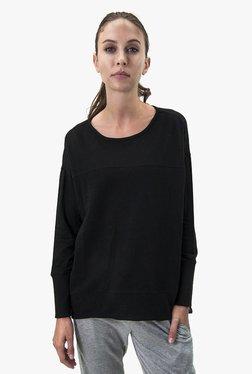 Satva Black Textured Organic Cotton Top