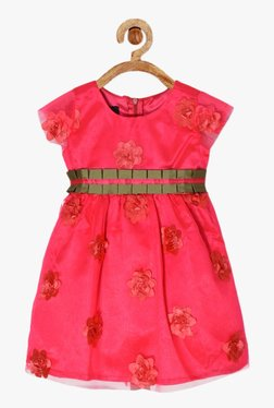 PSPeaches Kids Pink Applique Dress 2fb2b138f