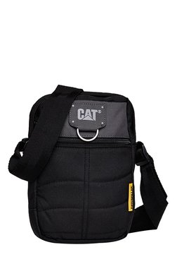 CAT Rodney Black & Grey Stitched Polyester Sling Bag
