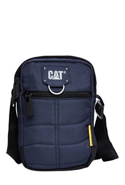 Cat Ryan Navy Sched Polyester Sling Bag