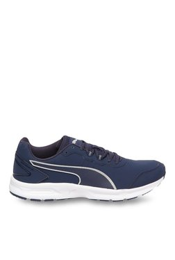 Puma Descendant V4 SL Peacoat & Silver Running Shoes