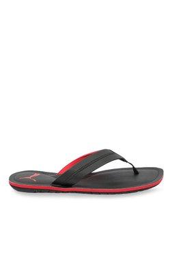 Puma Ablaze Black & Red Flip Flops