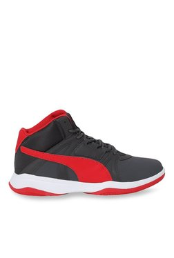 Puma Rebound Street Evo SL Asphalt & Red Basketball Shoes