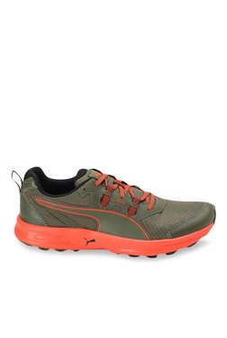 098a5c9753a2ad Puma Essential Trail Olive Night   Orange Running Shoes