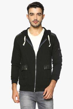Campus Sutra Black Cotton Jacket