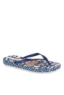 Ipanema Navy & Peach Flip Flops