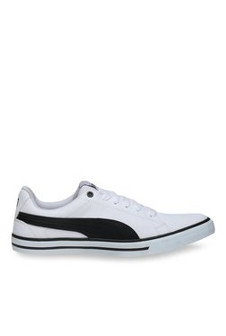 Puma Court Point Vulc Perf V2 White & Black Sneakers