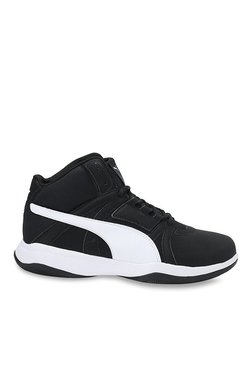 Puma Rebound Street Evo IDP Black & White Basketball Shoes