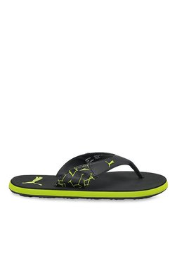 Puma Winglet II DP Black & Lime Punch Flip Flops