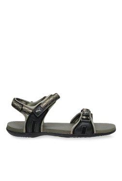 Puma Nova MU IDP Grey Violet & Black Floater Sandals