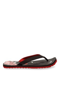 Puma Tide IDP Black & High Risk Red Flip Flops