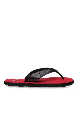 Puma Winglet II DP Black & Barbados Cherry Flip Flops