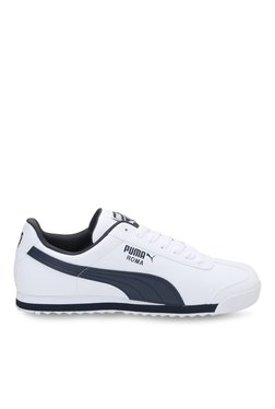 Puma Roma Basic White & New Navy Sneakers