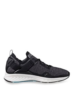 Puma Ignite EvoKNIT Lo Black & Quiet Shade Running Shoes