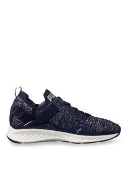 Puma Ignite EvoKNIT Lo Peacoat & Quarry Running Shoes