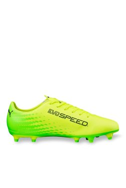 da2f595ddeba Puma evoSPEED 17.5 FG Safety Yellow   Green Football Shoes