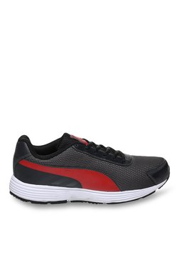 Puma Ridge IDP Asphalt Grey & High Risk Red Running Shoes