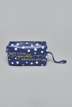 Westside Navy Sparkle Cosmetics Pouch