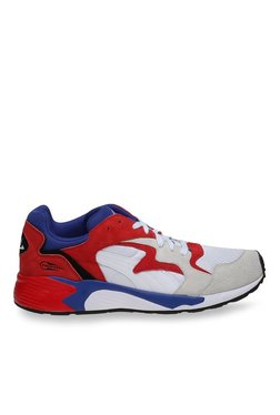 Puma Prevail Streetblock White & High Risk Red Running Shoes