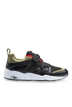 Puma Blaze Of Glory Streetblock Black & Olive Running Shoes