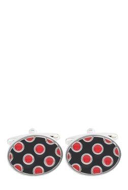 Raymond Black & Red Metal Cufflinks