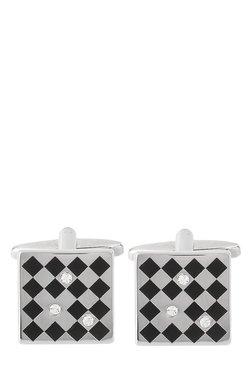 Raymond Black Chequered Metal Cufflinks