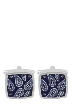 Raymond Blue Paisley Metal Cufflinks