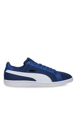 Puma Smash Knit True Blue & White Sneakers